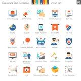 Commerce Set 02. Commerce And Shopping Colorful Icons Set 02 royalty free illustration