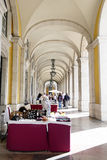Commerce Square Arcade, Lisbon Royalty Free Stock Photos