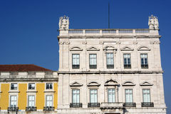 Commerce square buildings, Lisbon, Portugal Royalty Free Stock Photos