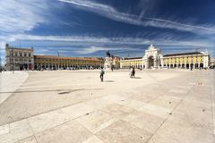 Lisbon Commerce Square. The Commerce Square, commonly known as Terreiro do Paco, is the largest square in Lisbon, Portugal Stock Images