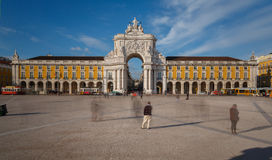 Commerce Square in downtown Lisbon (Portugal) Royalty Free Stock Photography