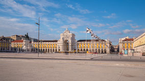 Commerce Square in downtown Lisbon (Portugal) Royalty Free Stock Image