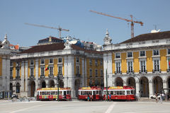 Commerce square in Lisbon Stock Photography