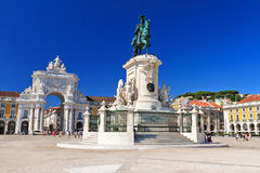 Commerce square Lisbon Royalty Free Stock Image