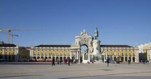 Commerce square in Lisbon, Portugal Stock Photo