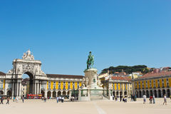 Commerce Square in Lisbon. Portugal Royalty Free Stock Photography