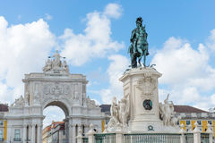 Commerce square at Lisbon. Portugal Royalty Free Stock Image