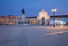 Commerce Square in Lisbon. Portugal Royalty Free Stock Photo