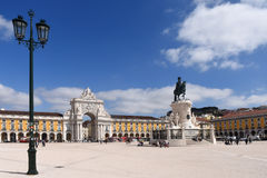 Commerce Square in Lisbon, Royalty Free Stock Photos