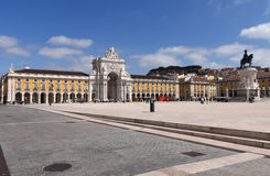 Commerce Square in Lisbon, Royalty Free Stock Image