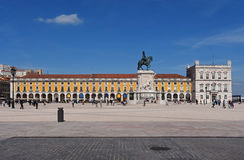Commerce Square in Lisbon, Royalty Free Stock Images