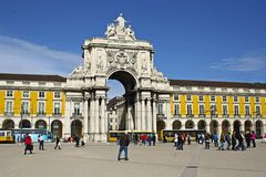 Commerce square, lisbon, Portugal Stock Image