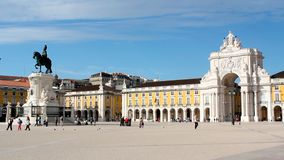 Commerce Square in Lisbon, Portugal.  royalty free stock photography