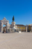 Commerce square in Lisbon, Portugal royalty free stock photo