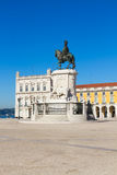 Commerce square in Lisbon, Portugal royalty free stock photos