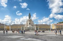 Commerce square at Lisbon Royalty Free Stock Images