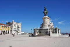 Commerce Square in Lisbon, Portugal Stock Images