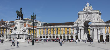 Commerce Square - Lisbon - Portugal royalty free stock photo