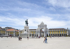 Commerce Square in Lisbon, Portugal. Praça do Comércio  ,  Commerce Square in Lisbon, Portugal Stock Photography