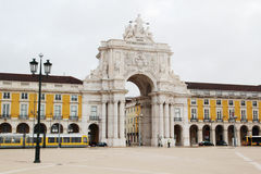 Commerce Square, Lisbon, Portugal. The Praça do Comércio Commerce Square is located in the city of Lisbon, Portugal Stock Photography