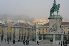 The Commerce Square in Lisbon, Portugal Stock Photography