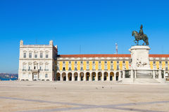 Commerce square  in Lisbon, Portugal Stock Photography