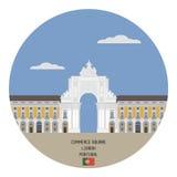 Commerce Square. Lisbon, Portugal royalty free illustration