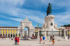Commerce Square. Lisbon, Portugal Royalty Free Stock Photos