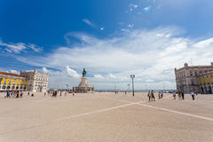 Commerce Square in Lisbon,Portugal Stock Photo