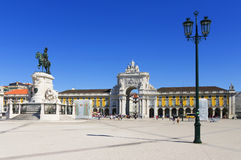 Commerce Square in Lisbon Stock Photos