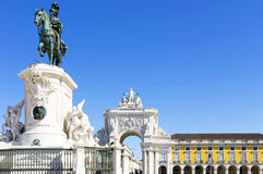Commerce Square in Lisbon Stock Images