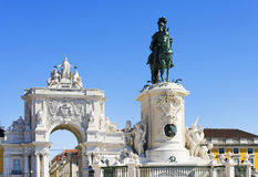 Commerce Square in Lisbon Royalty Free Stock Image