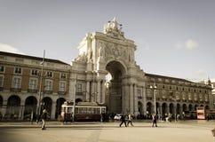 Commerce Square Lisbon or Praça do Comércio Lisboa Stock Images