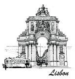 Commerce square in Lisbon Royalty Free Stock Photos