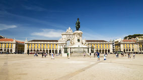 Commerce square (Praca do Comercio) in Lisbon, Portugal Stock Photos