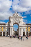 Commerce square - Praca do commercio in Lisbon - Portugal Royalty Free Stock Photography