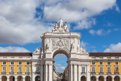 Commerce square - Praca do commercio in Lisbon - Portugal Royalty Free Stock Images