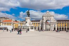 Commerce square - Praca do commercio in Lisbon - Portugal Stock Image