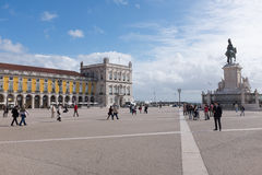 Commerce square - Praca do commercio in Lisbon Royalty Free Stock Photography