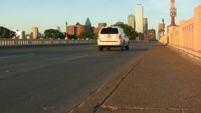 Commerce Street Bridge And Dallas Skyline stock footage