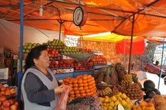 Commerce sur le marché dans le sucre Images libres de droits