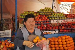 Commerce sur le marché dans le sucre Photos libres de droits