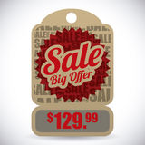 Commerce tag design Stock Image