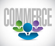 Commerce team sign illustration design graphic Royalty Free Stock Photos