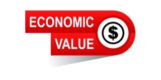 Economic value banner. Commerce web banner icon on isolated white background - vector eps illustration Royalty Free Stock Image