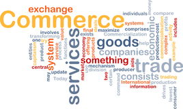 Commerce word cloud Royalty Free Stock Photos