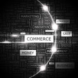 Commerce. Word cloud concept illustration. Wordcloud collage Royalty Free Stock Image