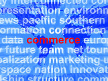 Commerce Word Showing The Business Of Buying Royalty Free Stock Images