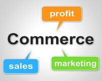 Commerce Words Shows Export Commercial And Buying Royalty Free Stock Images