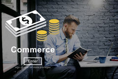 Commerce World Economics Money Concept.  Royalty Free Stock Image